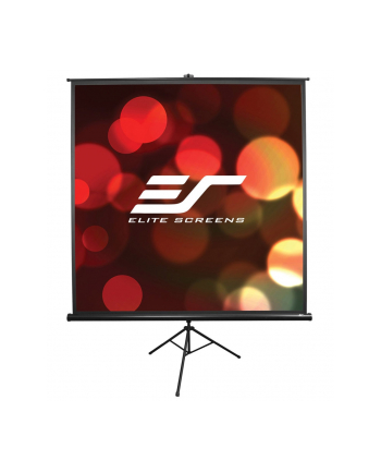 Elite Screens T113UWS1Tripod Pull Up Screen 113'' 1:1 / W 203,2cm x H 203,2cm / Black case / Standard keystone eliminator / 4-side black masking border (Top: 3.8cm) / 160 Degrees viewing angle / Auto locking system / Easy to clean