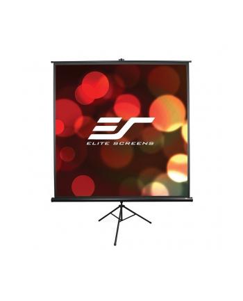 Elite Screens T85UWS1 Tripod Pull Up Screen 85'' 1:1 / Diagonal 215,9cm, W 152,4cm x H 152,4cm / Black case / Standard keystone eliminator / 4-side black masking border (Top: 3.8cm) / 160 Degrees viewing angle / Auto locking system / Easy to cl