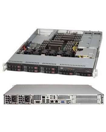 1U, 700W PS (redundant, Gold Level), 8x 2.5'' Hot-swap HDD bays, WIO