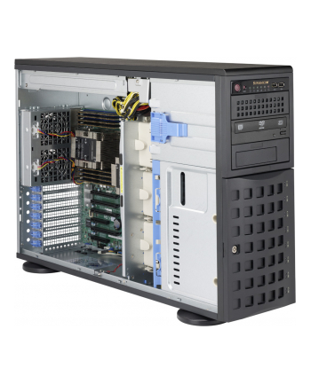 4U/Tower, 920W PS (redundant, Platinum Level), 8x 3.5'' Hot-swap HDD bays, 3x 5.2
