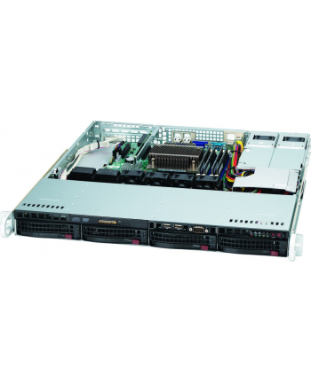 1U, 400W PS (redundant, Gold Level, short-depth), 4x 3.5'' Hot-swap HDD bays