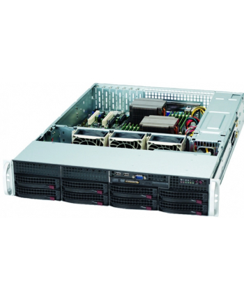 2U, 720W PS (redundant, Gold Level), 8x 3.5'' Hot-swap HDD bays, 2x Fixed 3.5'' HD