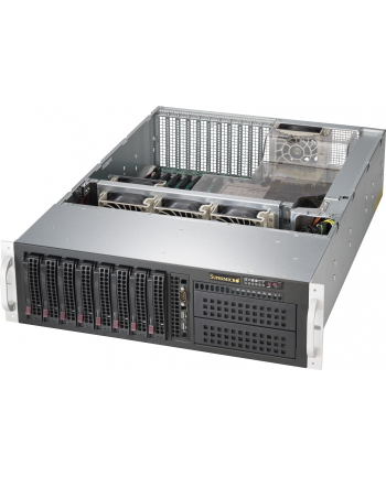 3U, 920W PS (redundant, Platinum Level), 8x 3.5'' Hot-swap HDD bays, 2x 5.25'' per