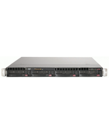 1U, 4x 3.5'' Hot-swap HDD bays w/ 2x Xeon E5-2600 support, C602 chipset, 600W PS