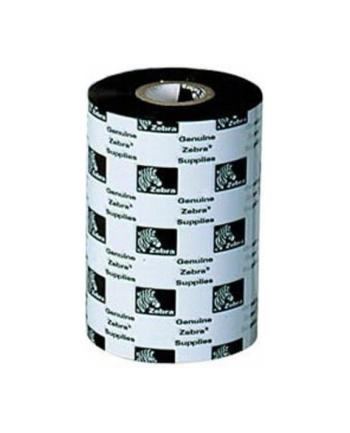 Taśma termotransferowa Zebra 64mm/74mb woskowo-żywiczna,kolor czarny,gilza 0,5'' z nacięciami długa (110mm)
