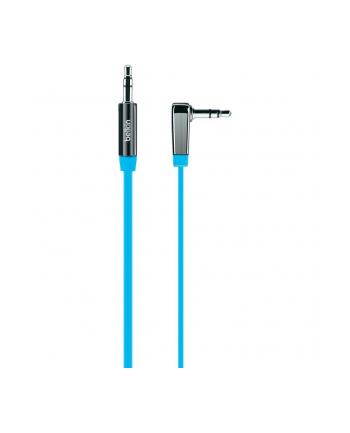 Kabel Mini Jack 3.5mm M/M 90st.0.9m niebieski