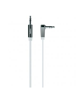 Kabel Mini Jack 3.5mm M/M 90st.0.9m biały