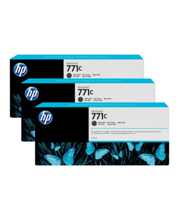 Tusz HP Designjet 771C mate black | 775 ml | 3 pojemniki
