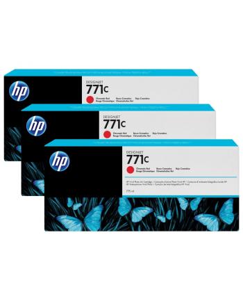 Tusz HP Designjet 771C red | 775 ml | 3 pojemniki