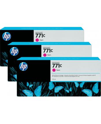 Tusz HP Designjet 771C magenta | 775 ml | 3 pojemniki