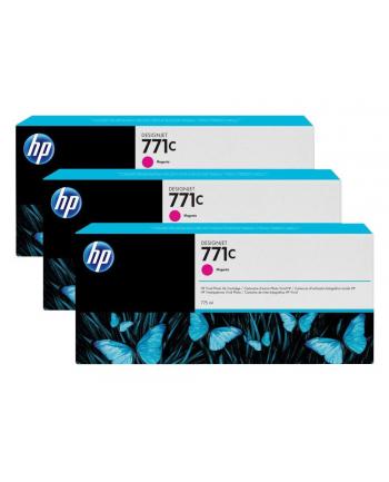 Tusz HP Designjet 771C magenta   775 ml   3 pojemniki