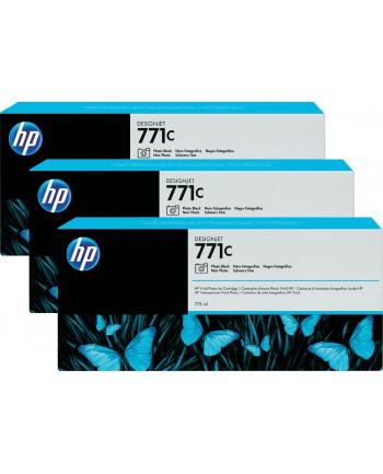Tusz HP Designjet 771C photo black   775 ml   3 pojemniki