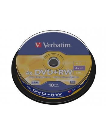 Verbatim DVD+RW [ cake box 10 | 4.7GB | 4x ]
