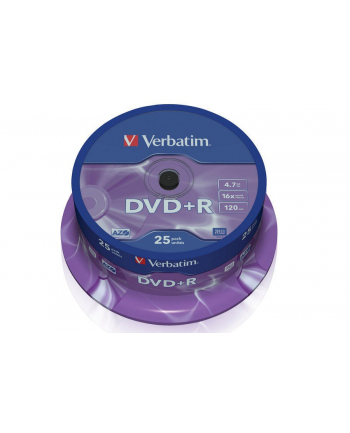 Verbatim DVD+R [ cake box 25 | 4.7GB | 16x | matte silver ]