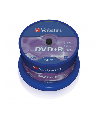Verbatim DVD+R [ cake box 50 | 4.7GB | 16x | matte silver ]