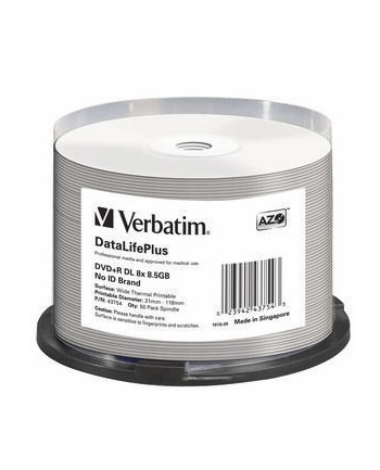 DVD+R DL Verbatim [ spindle 50 | 8,5GB | 8x | WIDE THERMAL PRINTABLE ]