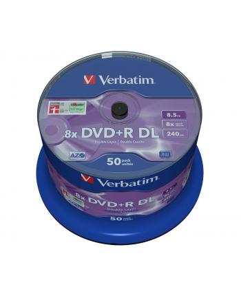 Verbatim DVD+R DL [ spindle 50 | 8,5GB | 8x | matt silver surface ]