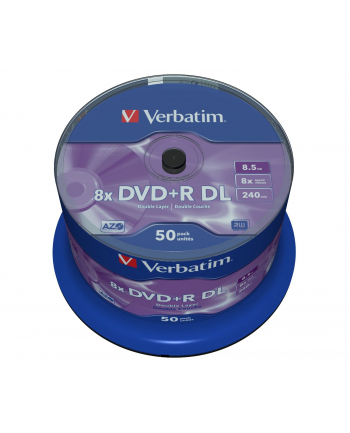Verbatim DVD+R DL [ spindle 50 | 8,5GB | 8x | matt silver surface ]