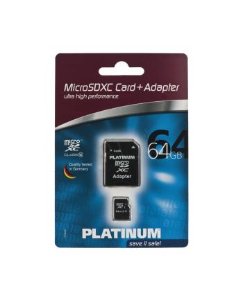 PLATINUM MICRO SD 64GB CLASS 10 + ADAPTER