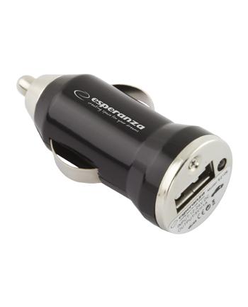 ŁADOWARKA SAMOCHODOWA ESPERANZA 1x USB 1000mA EZ106