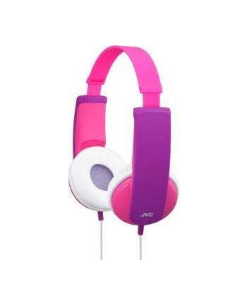 JVC Słuchawki dziecięce HA-KD5-P ograniczenie głośności, naklejki, przewód 0.8m