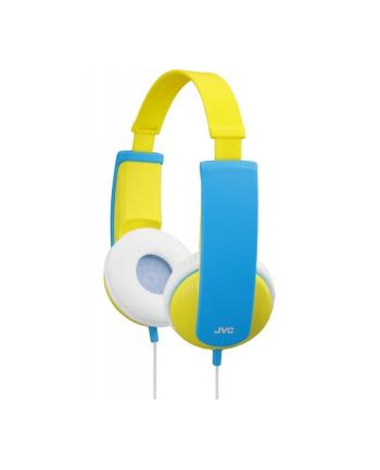 JVC Słuchawki dziecięce HA-KD5-Y ograniczenie głośności, naklejki, przewód 0.8m