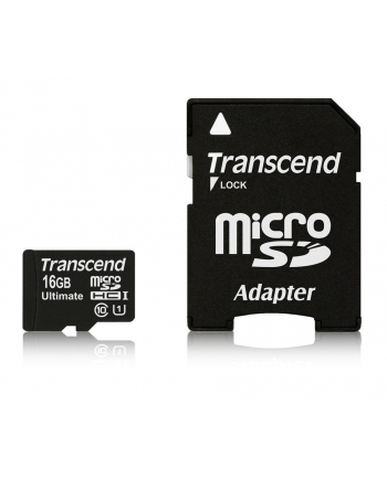 TRANSCEND Micro SDHC Class 10 UHS-I 600x, MLC, 16GB (Ultimate) + adapter