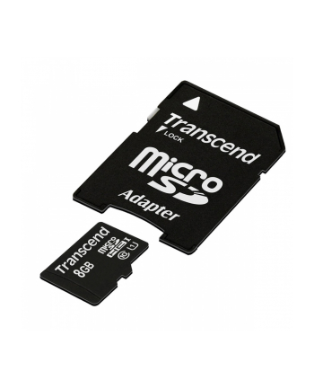 TRANSCEND Micro SDHC Class 10 UHS-I 600x, MLC, 8GB (Ultimate) + adapter