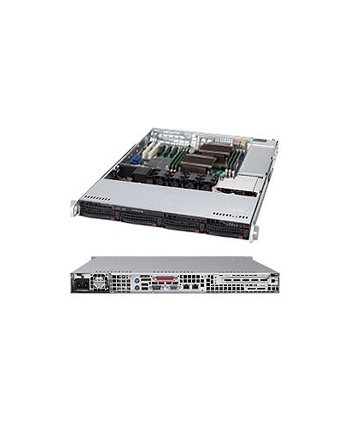 Supermicro SuperChassis 815TQ-600CB (Black) 1U, 650W PS (Platinum Level), 4x 3.5 HDD bays