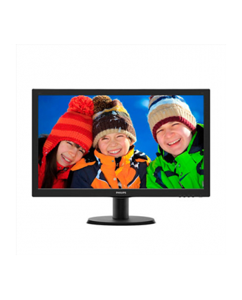 Monitor Philips LED 243V5LHAB/00, 23.6'' FHD, DVI/HDMI, ES 6.0, czarny