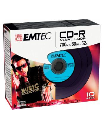 Emtec płyta CD-R  vinylowa  700MB  52x slim 10-pak ]