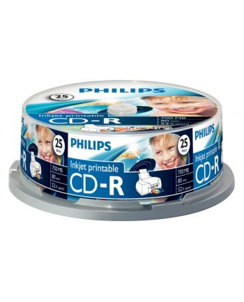 CD-R Philips [ cake box 25   700MB   52x ] do nadruku