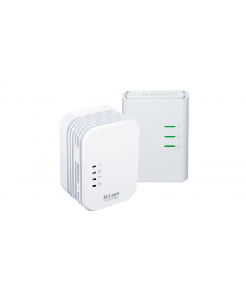 D-Link PowerLine AV 500 Wireless N Mini Extender, QoS, Common Connect Button,WPS
