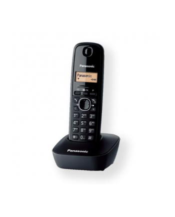 Panasonic KX-TG1611FXH Cordless phone, Black /  LCD / Memory 50 numbers / Memory for 50 incoming numbers /  (10levels) Auto-repeat, ringtone 12, selectable 16 tone / Wall-mount option