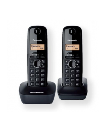 Panasonic KX-TG1612FXH  Cordless phone, Black /  LCD / Memory 50 numbers / Memory for 50 incoming numbers /  (10levels) Auto-repeat, ringtone 12, selectable 16 tone / Wall-mount option