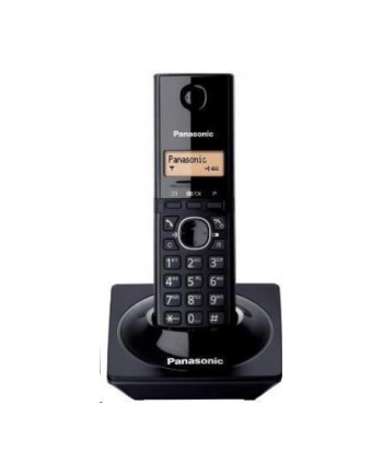 Panasonic KX-TG1711FXB Cordless phone, Black /  LCD / Memory 50 numbers / Memory for 50 incoming numbers /   Auto-repeat, ringtone 12 / Wall-mount option