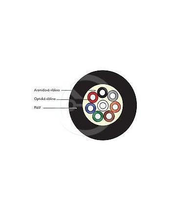 DROP1000 uniwersalny kabel Solarix 8vl 9/125, 3,7mm LSZH, czarny, G.657A, 500m