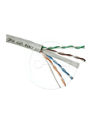 Instalacja kablowa Solarix CAT6 UTP LSOH drut 500m/box