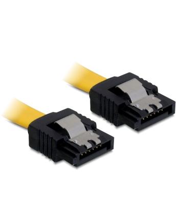 Delock kabel do dysków serial ata II data 30cm zatrzaski metalowe żółty