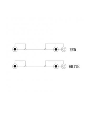 Kabel Audio Video 1.5 m 2 x Cinch -> 2 x specjalne gniazda RCA (Cinch)