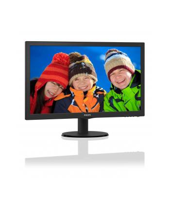 Monitor Philips LED 23.6'' 243V5LSB/00, Full HD, DVI, EPEAT Silver, ES 6.0