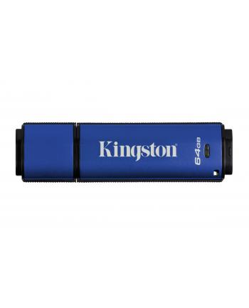 Kingston pamięć USB DataTraveler 64GB DTVP30, 256bit AES Encrypted USB 3.0