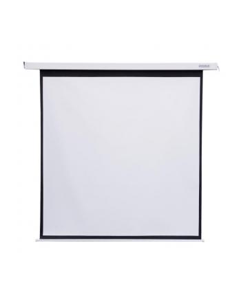 4World Elektryczny ekran projekcyjny z przełącznikiem 178x178 (1:1) biały mat