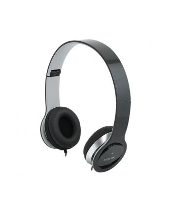 LogiLink Stylowe słuchawki stereo High Quality z mikrofonem, czarne
