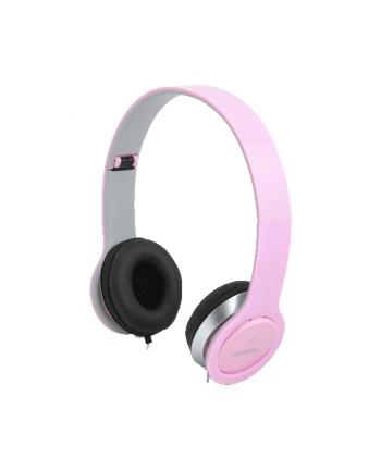 LogiLink Stylowe słuchawki stereo High Quality z mikrofonem, różowe