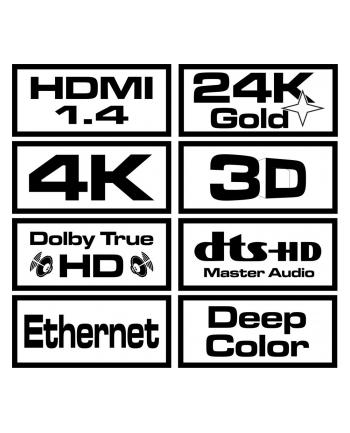 SAVIO CL-01 Kabel HDMI 1,5m, czarny, złote końcówki, v1.4 hi