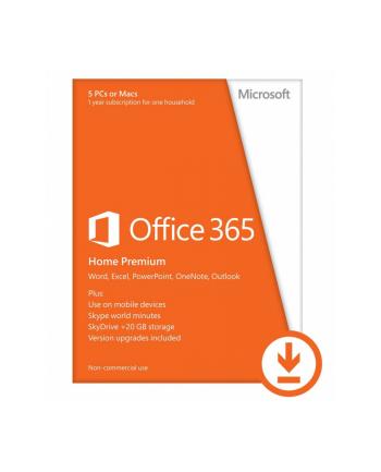 Microsoft Office 365 Premium dla Użytkowników Domowych - 5 komputerów PC lub Mac, 1 rok - Do pobrania
