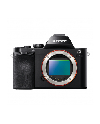 Sony ILCE-7 Black Body, 24.3MP, Full frame, Exmor APS HD CMOS sensor, 3.0'' LCD, Full HD 1080i movie, BIONZ X, HDMI, USB2.0, Media: Memory Stick PRO Duo, SD/SDHC & SDXC card, Li-Ion batt.
