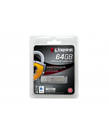 Kingston pamięć USB 3.0  64GB  DT Locker+ G3 w/Automatic Data Security