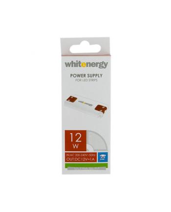 Whitenergy zasilacz Ultra Silm do pasków LED 12W | 12V DC | wewnętrzny
